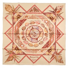 Hermes Rocaille Saint Barthelemy Boutique 90 cm Silk Scarf- Ltd. Edition