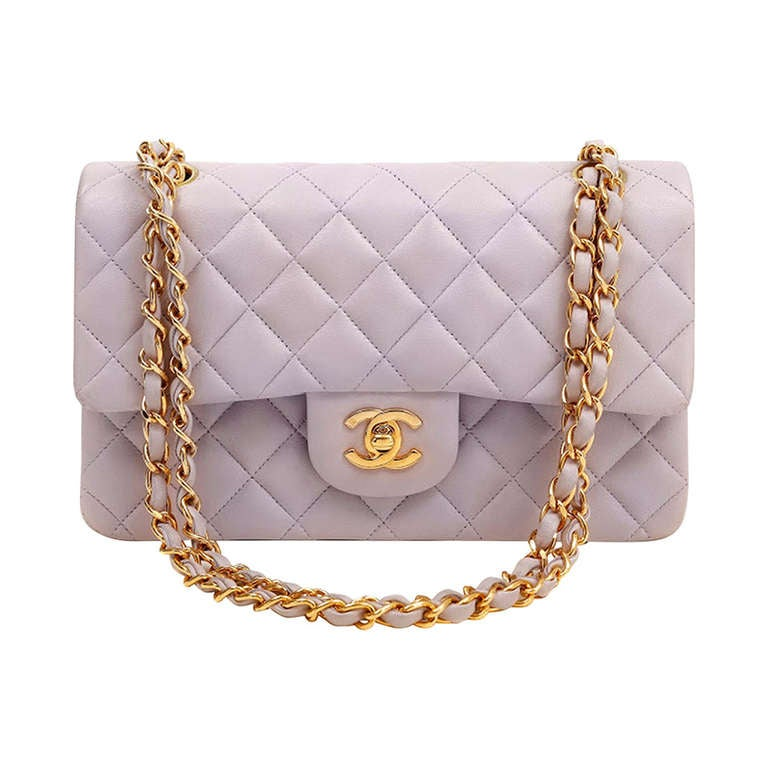 Chanel Classic Lambskin Bag In Lavender At 1stdibs