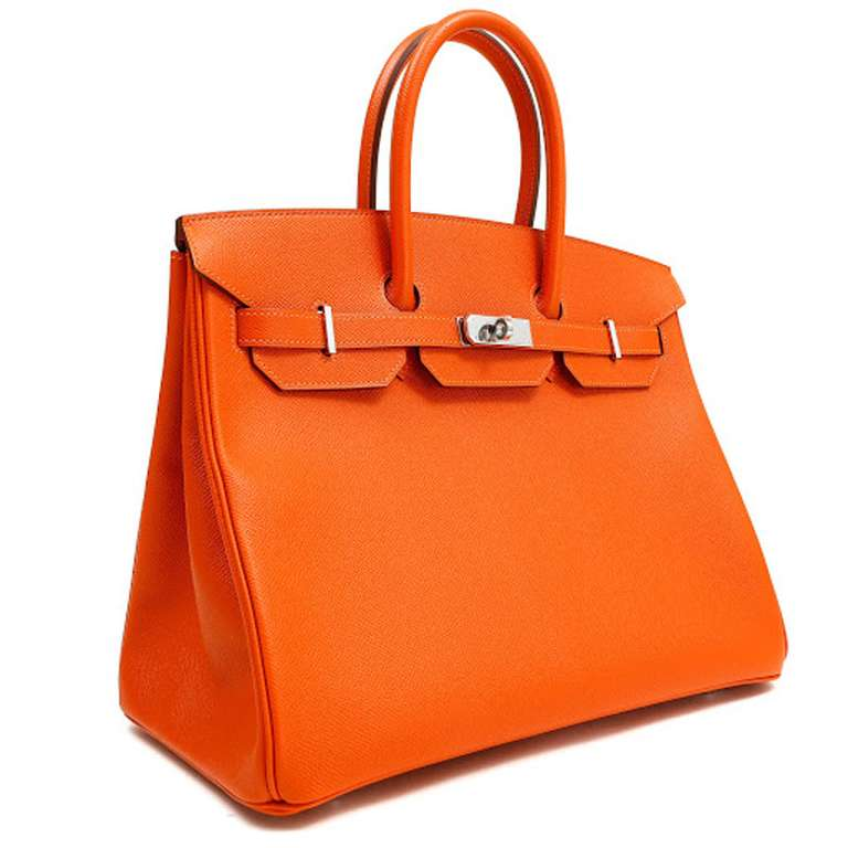 Hermes 35cm Orange Togo Birkin Bag 2