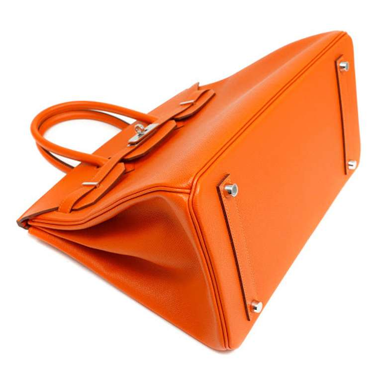 Hermes 35cm Orange Togo Birkin Bag 3
