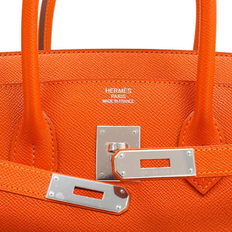Hermes 35cm Orange Togo Birkin Bag 4