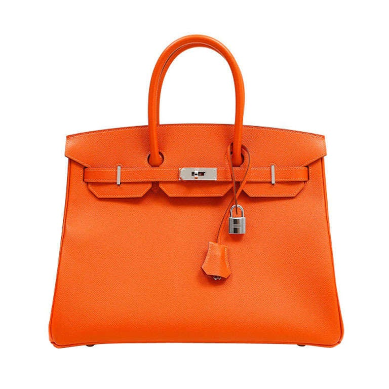 Hermes 35cm Orange Togo Birkin Bag 1