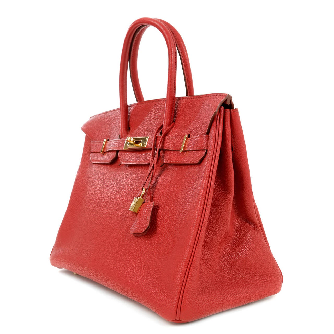 91e1c18dc0 Hermes Red Leather 35 cm Birkin Bag- RED TOGO with GOLD hardware at 1stdibs