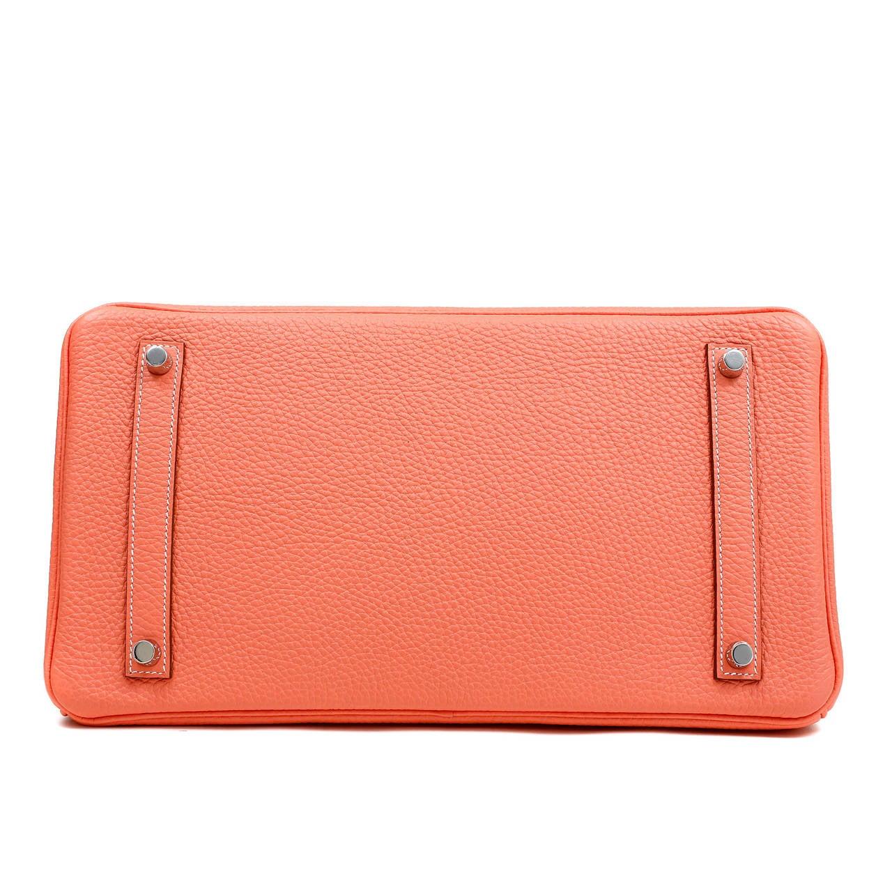 Hermes Crevette Togo 35 cm Birkin Bag- Salmon Pink Color 5