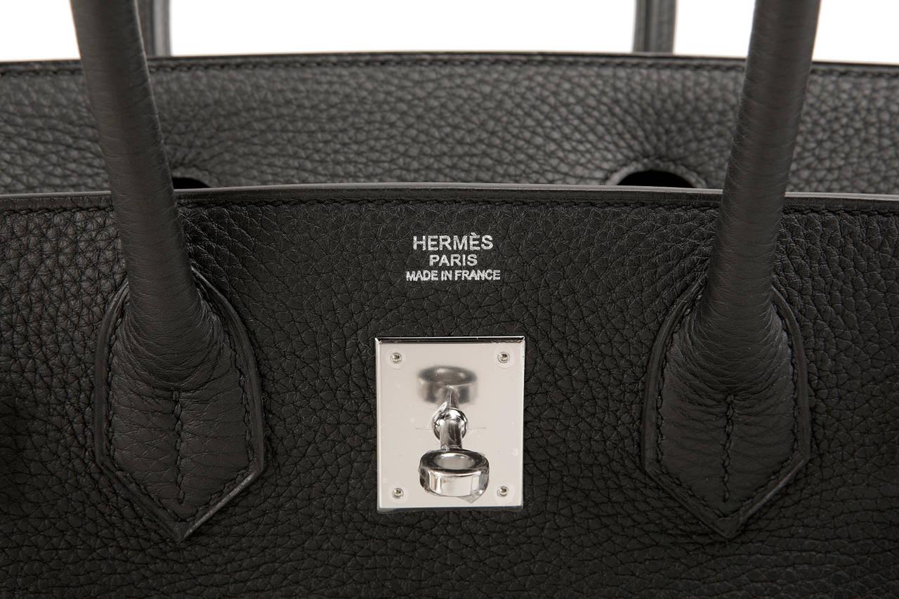Hermes Black 30 cm Birkin- TOGO with Palladium at 1stdibs