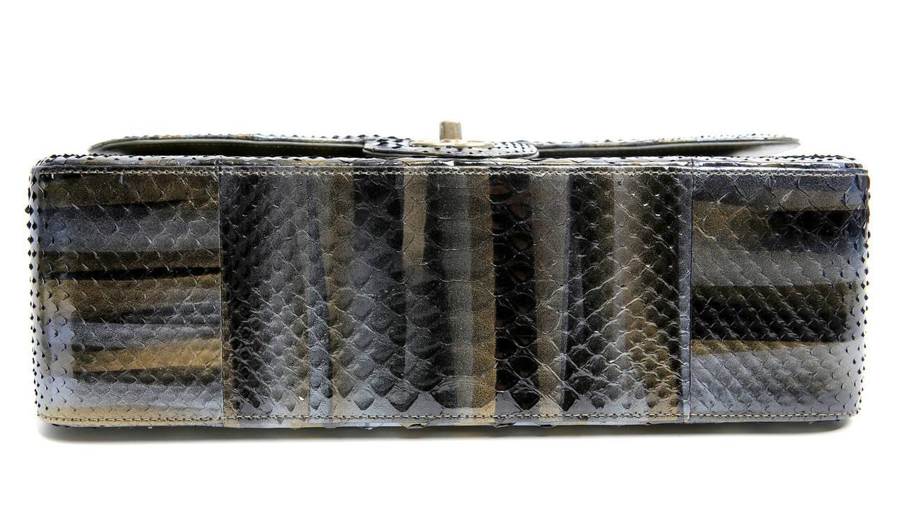Chanel Jumbo Classic Metallic Python- Double Flap 4