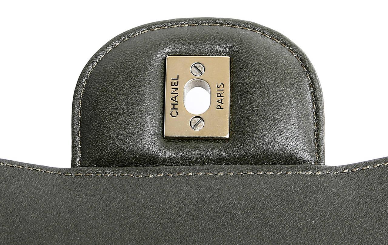 Chanel Jumbo Classic Metallic Python- Double Flap 8