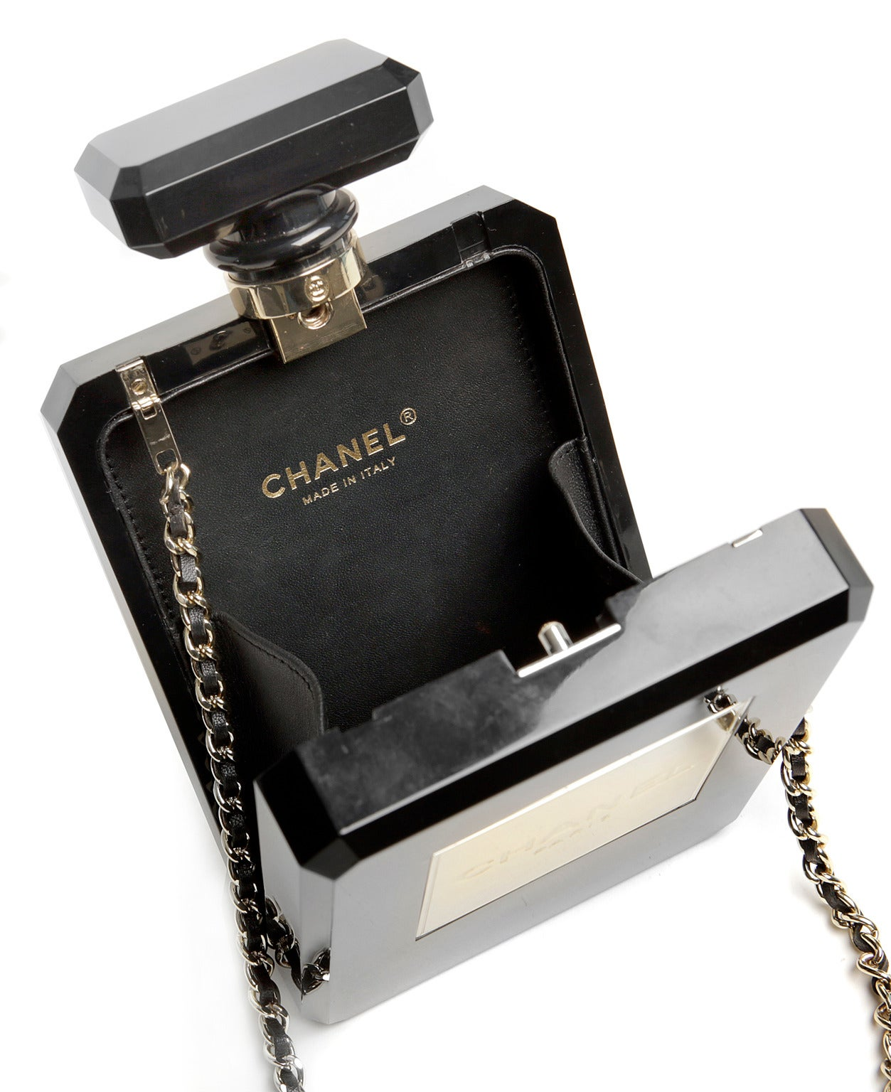 Chanel Black Perfume Bottle Bag- RARE 7