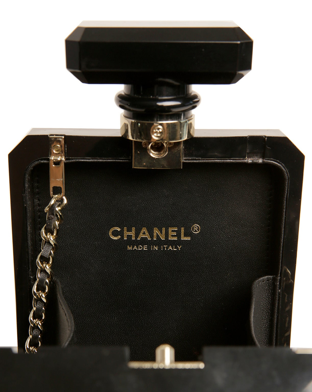 Chanel Black Perfume Bottle Bag- RARE 8
