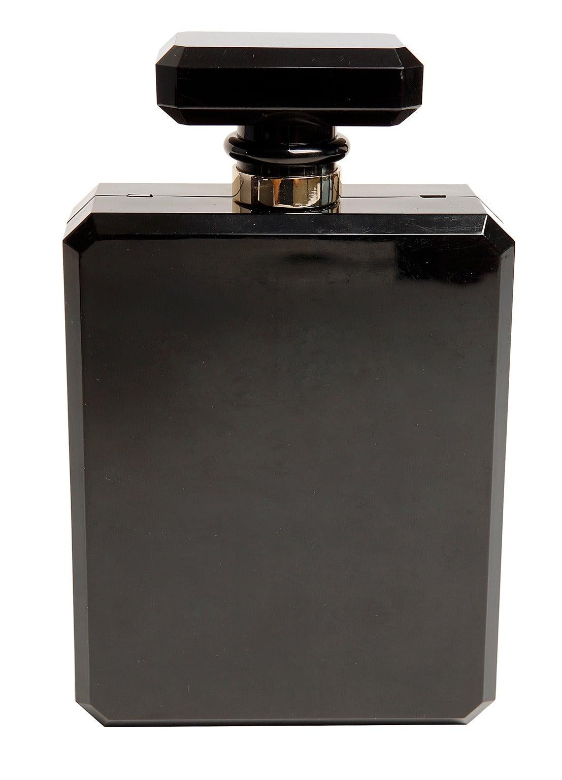 chanel black perfume bottle bag rare at 1stdibs