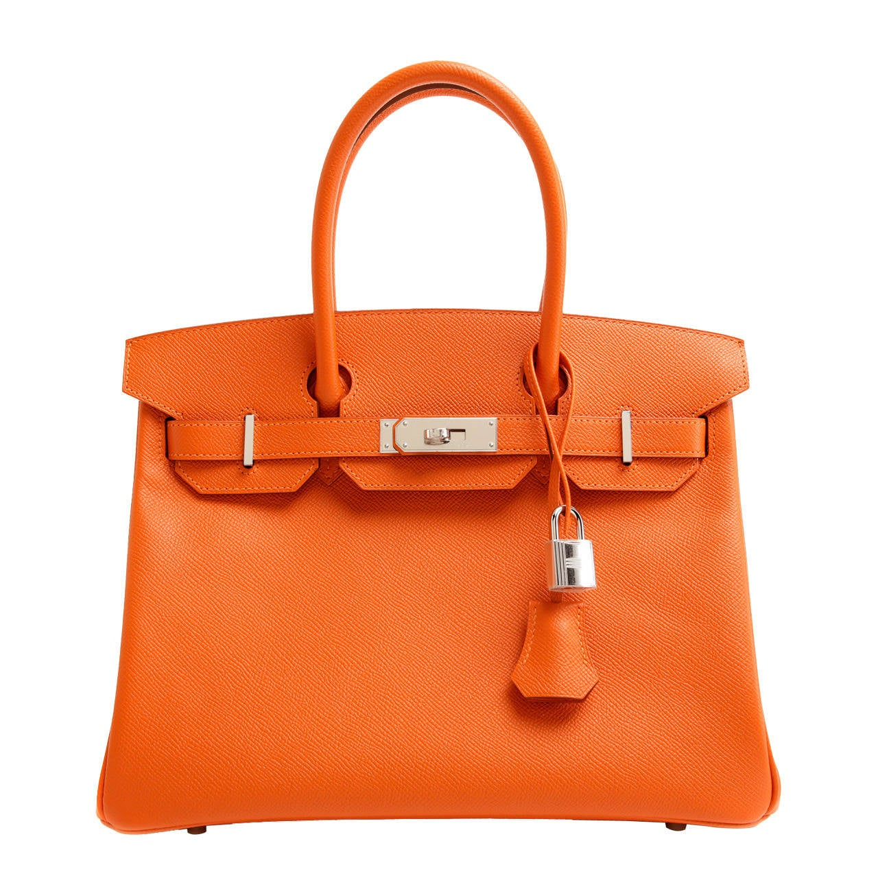 Hermes Orange 30 Cm Birkin Epsom Leather Phw At 1stdibs