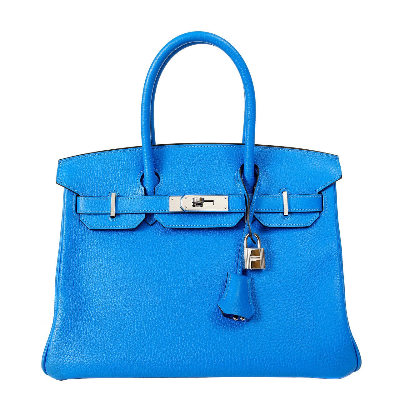 best fake birkin bag - Hermes Blue Hydra Clemence Birkin- 30 cm with Palladium at 1stdibs