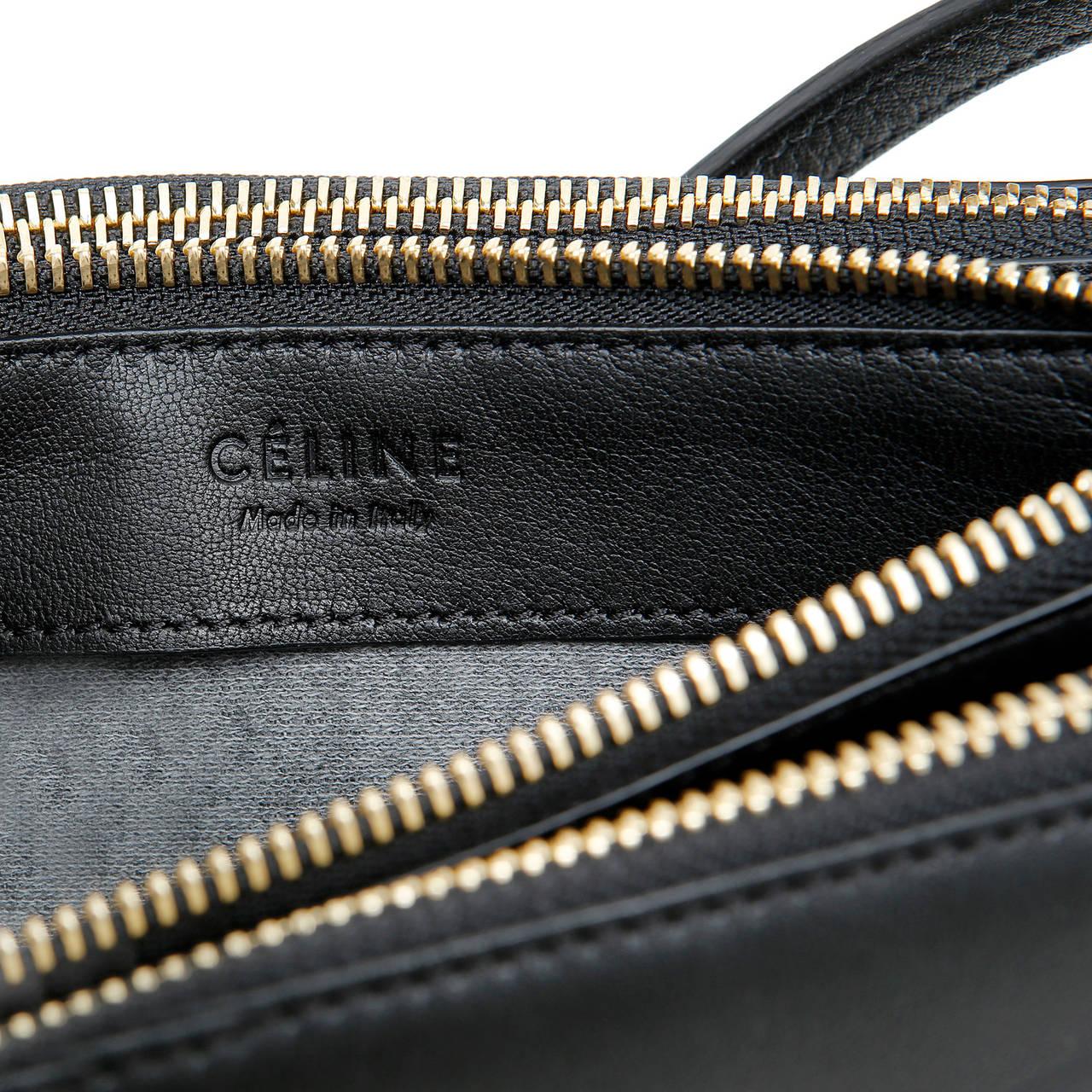 Celine Black Leather Trio Cross Body For Sale 6
