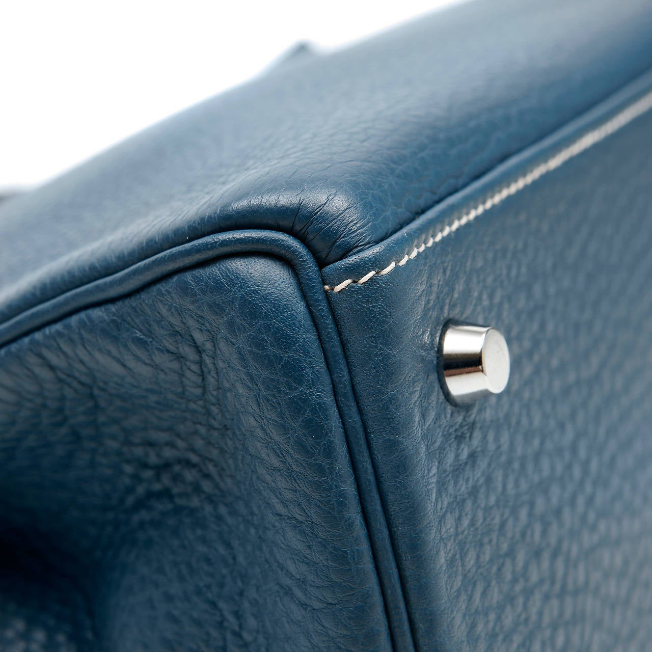 Hermes Thalassa Blue Togo Kelly- 35 cm at 1stdibs