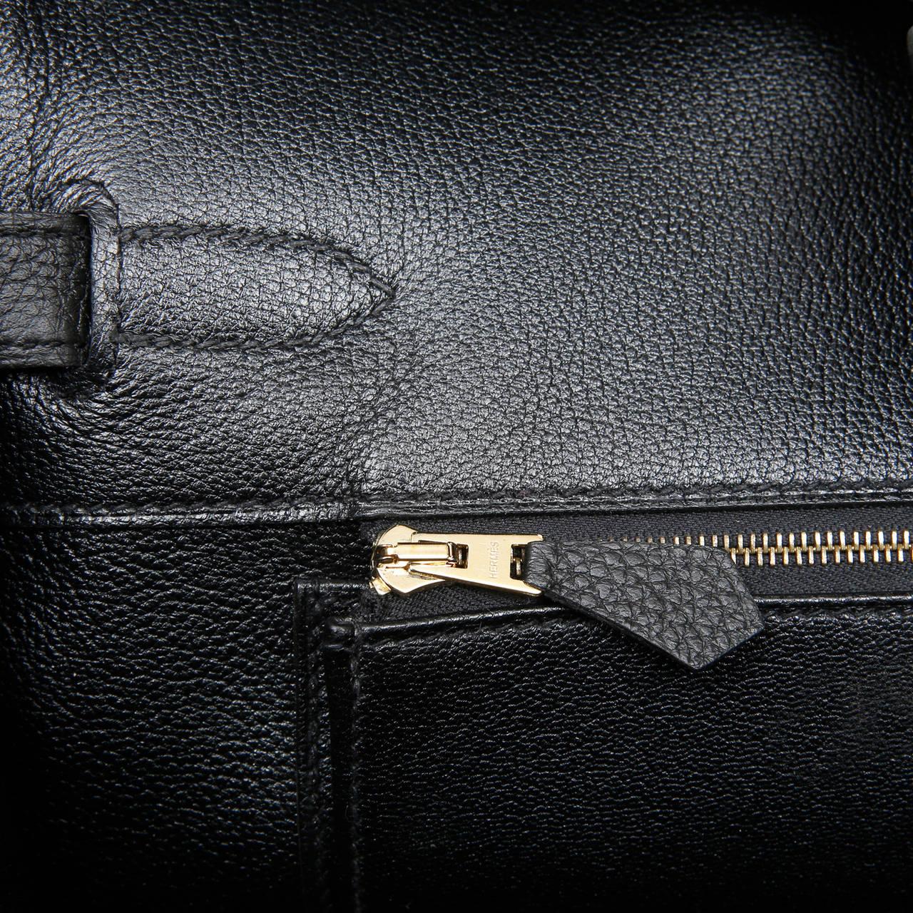 Hermes Black Togo Leather Birkin GHW 35 cm at 1stdibs