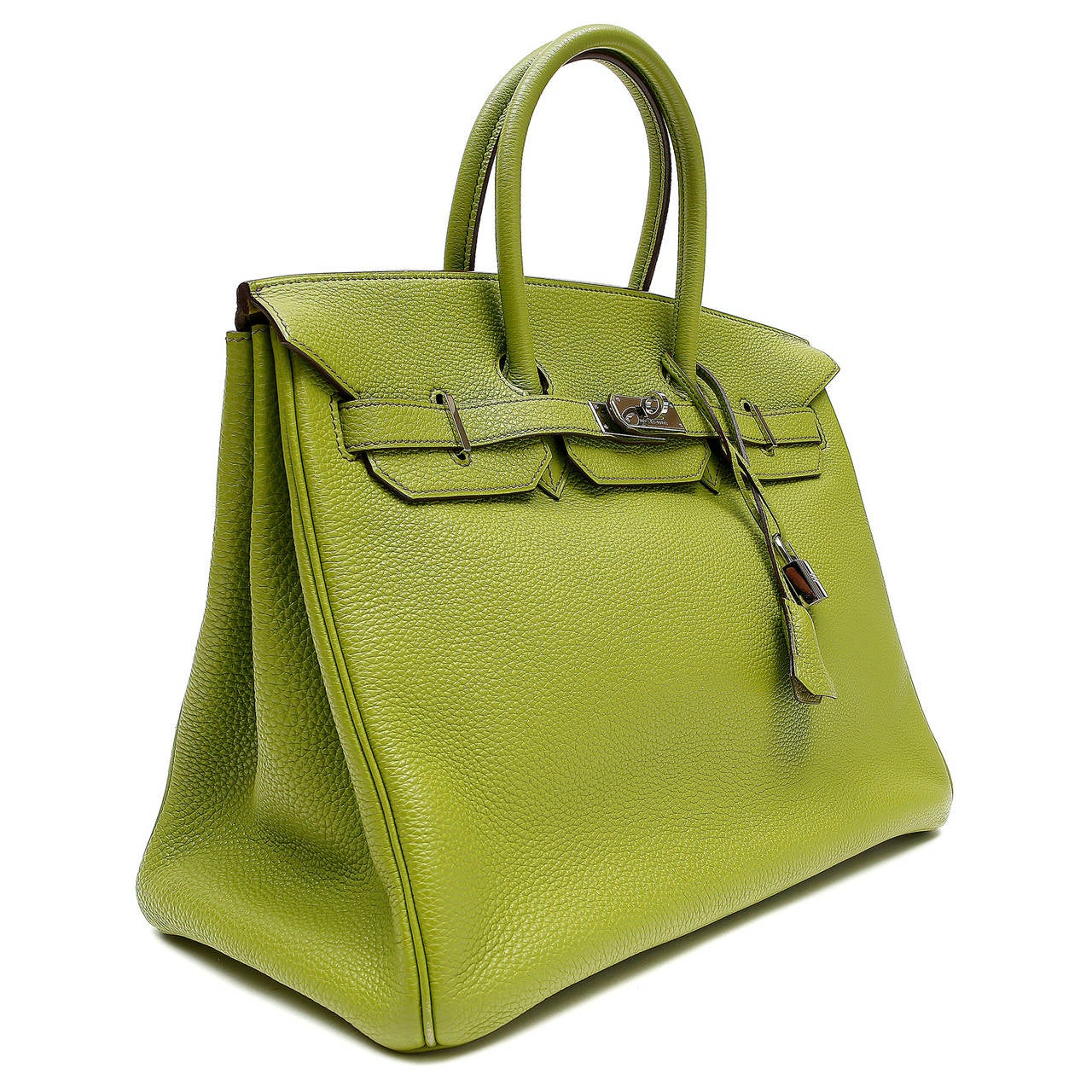 hermes vert anis green togo 35 cm birkin with phw at 1stdibs. Black Bedroom Furniture Sets. Home Design Ideas