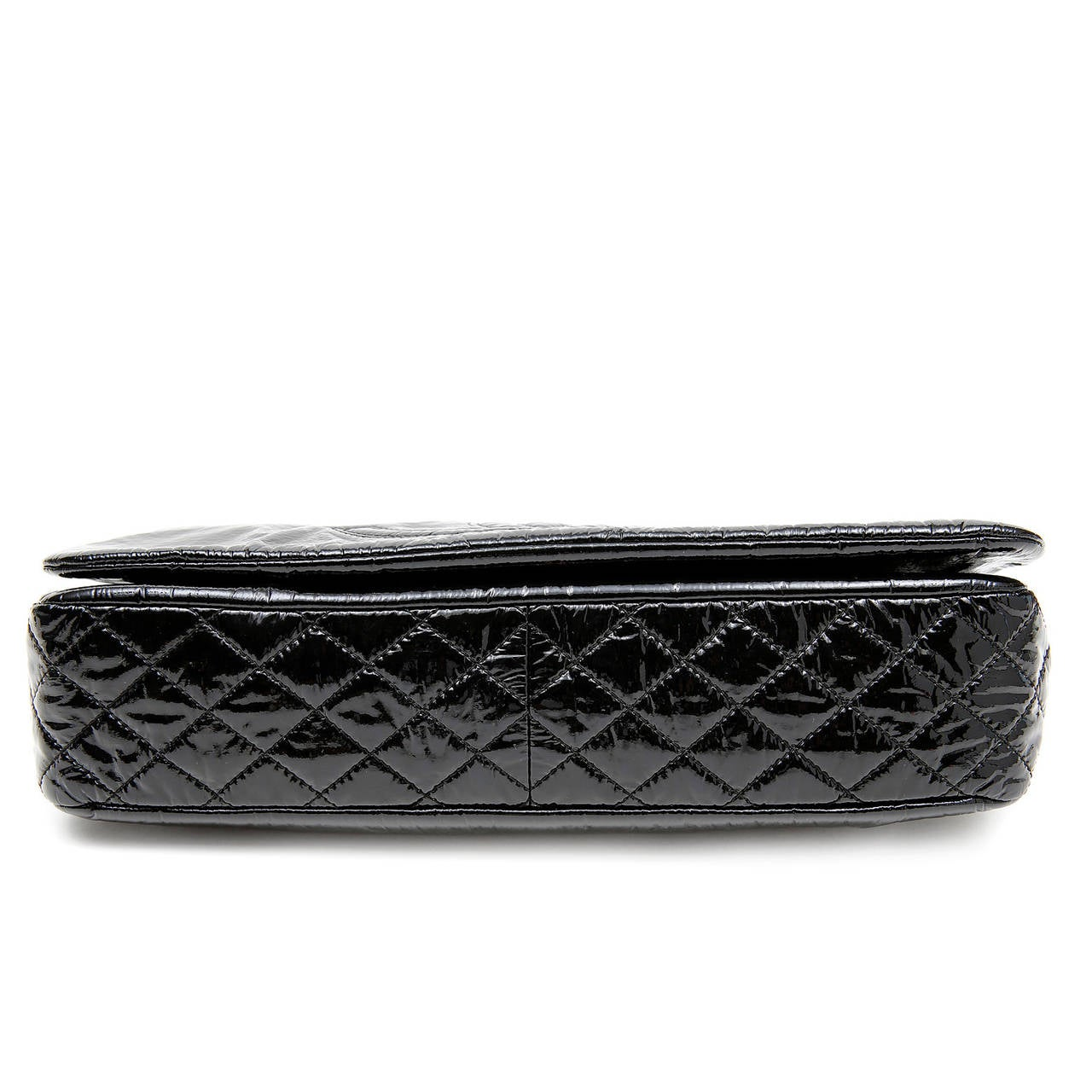 Chanel Black Patent Vinyl Flap Bag at 1stdibs