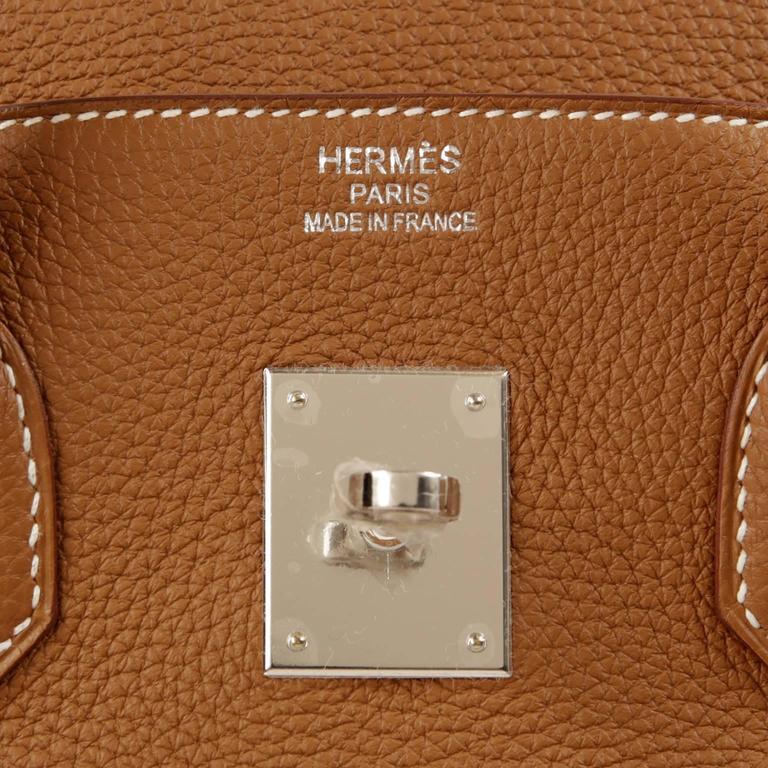 Hermes Gold Togo Birkin- 35 cm PHW  7