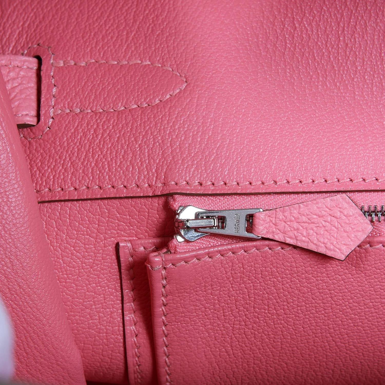 Herm¨¨s 35 cm Rose Lipstick Pink Birkin Bag- Togo PHW at 1stdibs