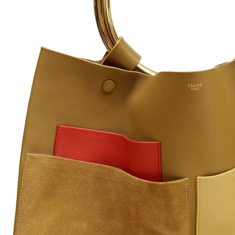 Celine Goldenrod Patch Pocket Runway Tote 7