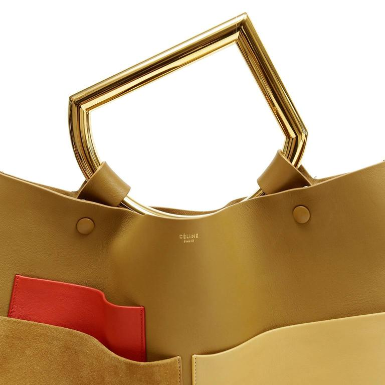 Celine Goldenrod Patch Pocket Runway Tote 6
