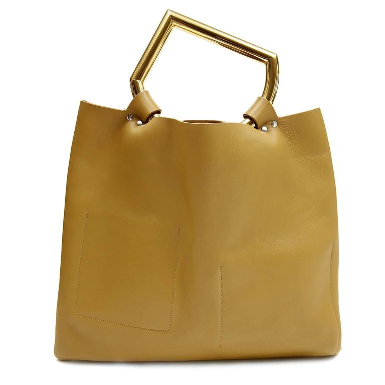 Celine Goldenrod Patch Pocket Runway Tote 2
