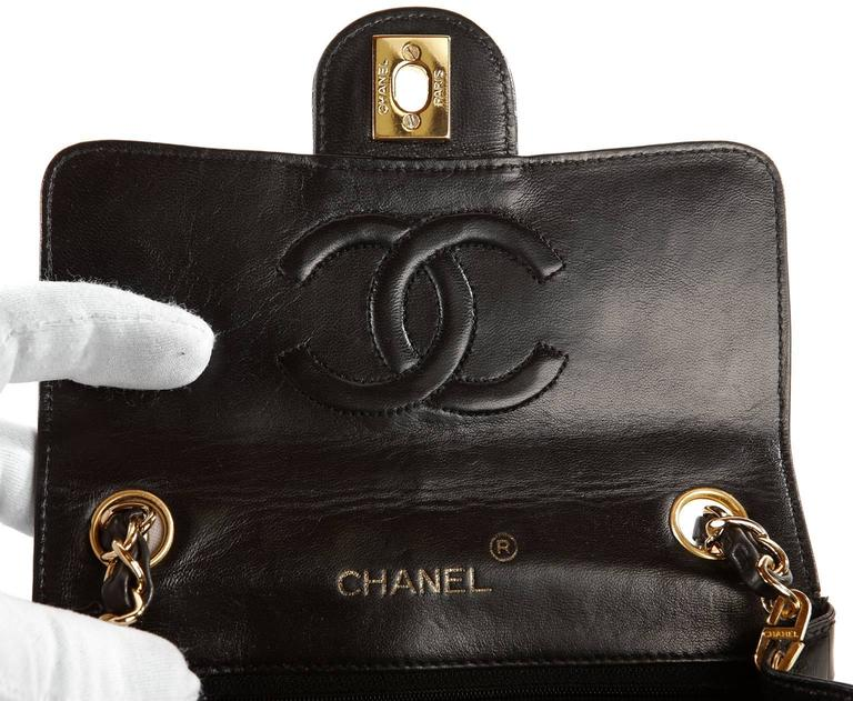 Chanel Black Crocodile Vintage Mini Classic 8