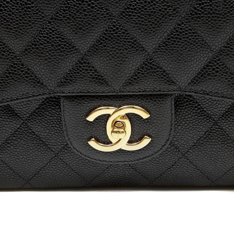 Chanel Black Caviar Leather Maxi with GHW 5