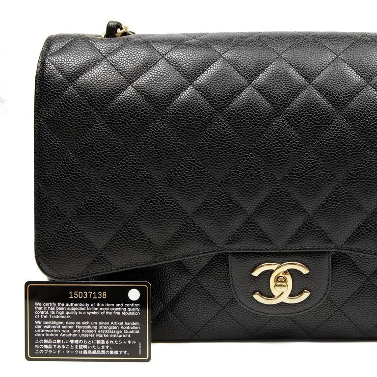 Chanel Black Caviar Leather Maxi with GHW 10