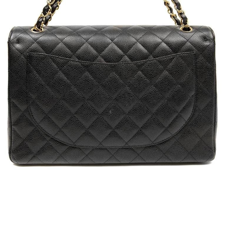 Chanel Black Caviar Leather Maxi with GHW 2