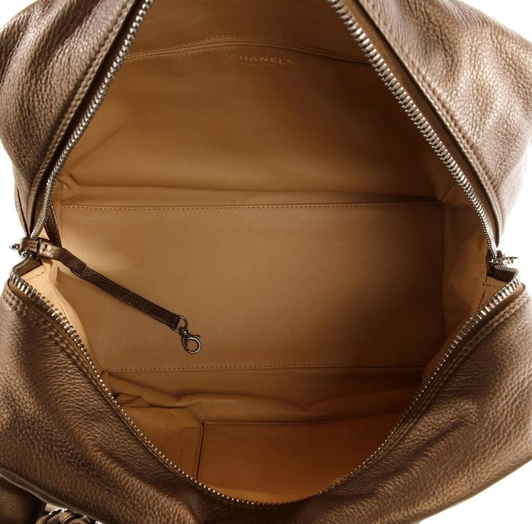 Chanel Bronze Leather Large Bowler Tote Bag 8