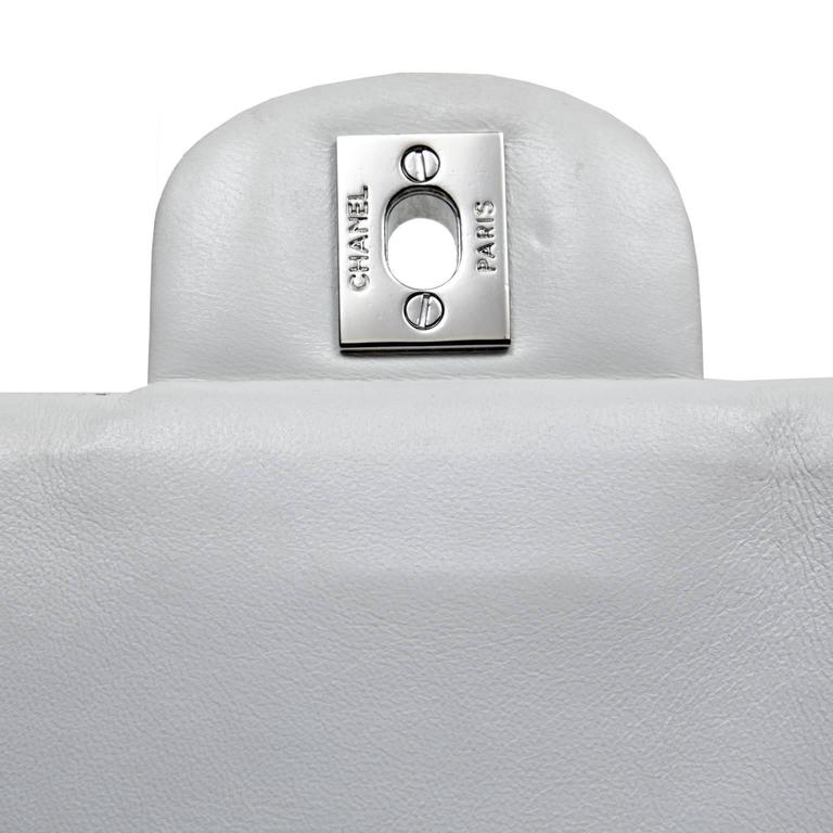 Chanel White Multi Woven Stripe Small Flap Bag For Sale 4