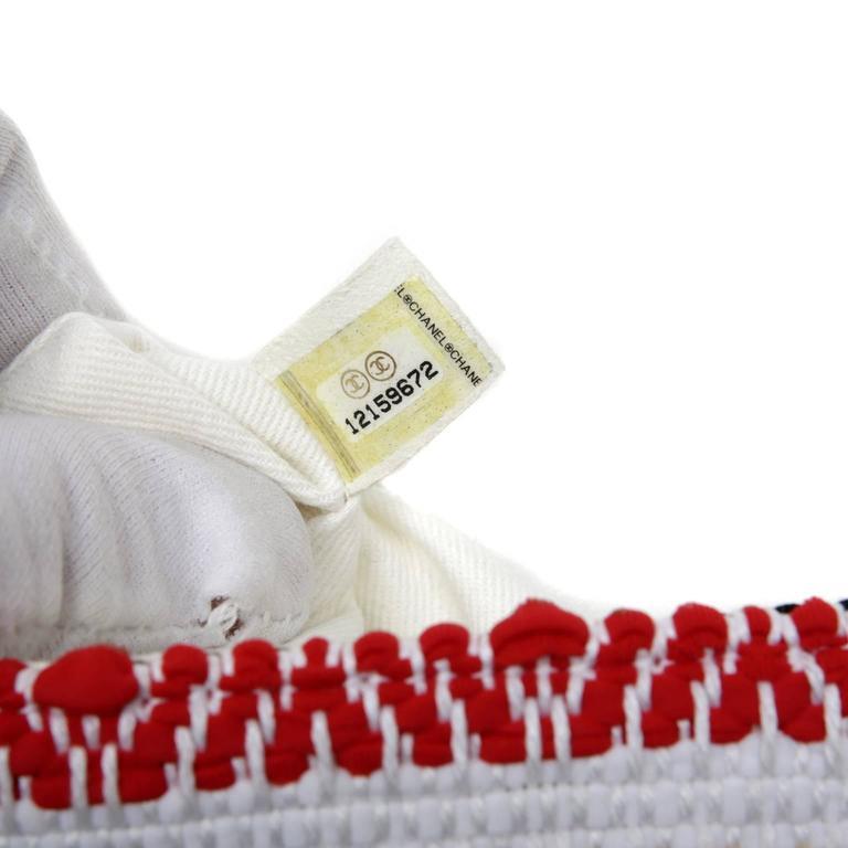 Chanel White Multi Woven Stripe Small Flap Bag For Sale 5