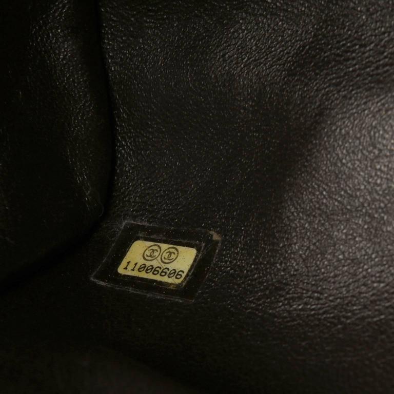 Chanel Green Brown Chinchilla Fur and Python Bag 9