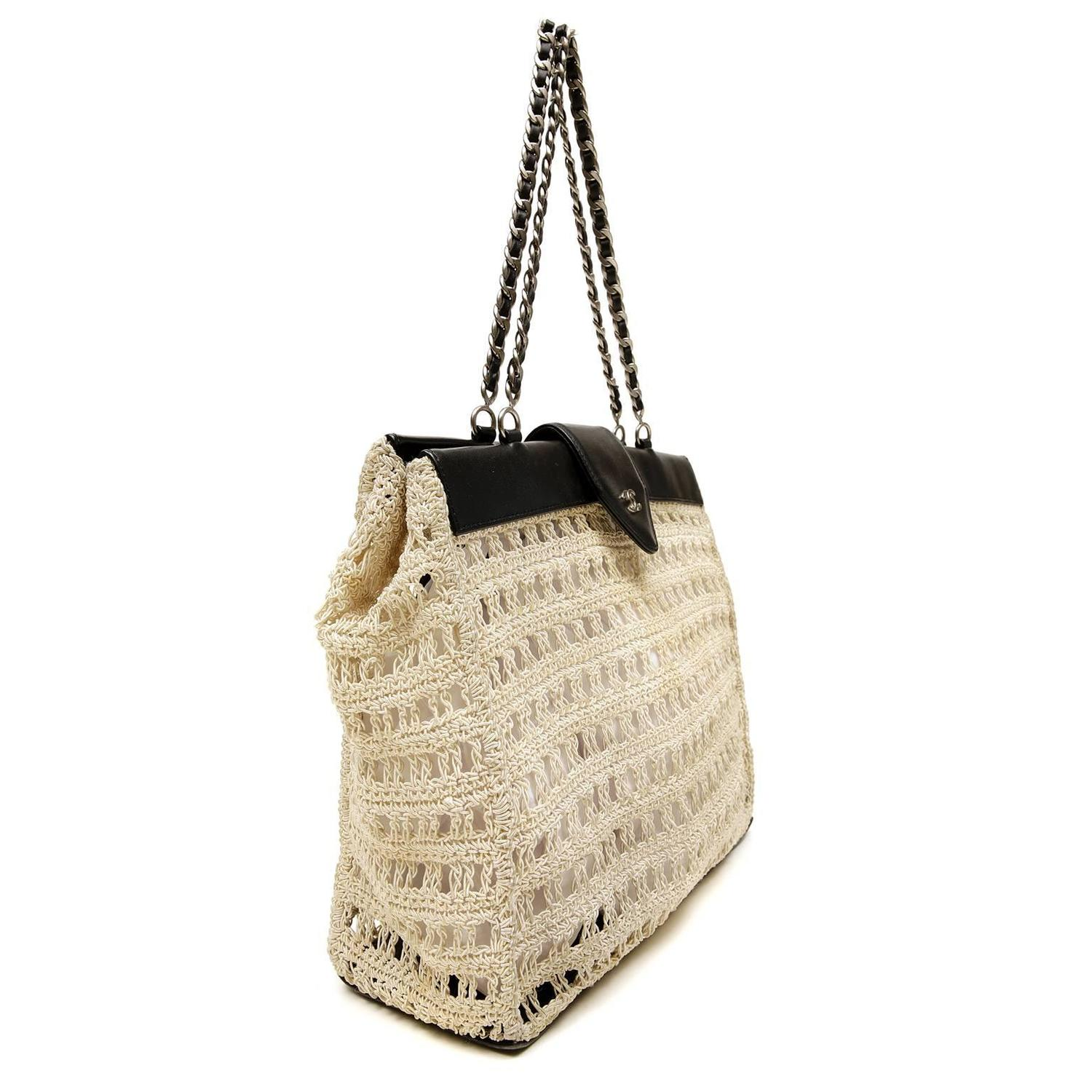 Leather Crochet Bag : Home / Fashion / Handbags and Purses / Tote Bags