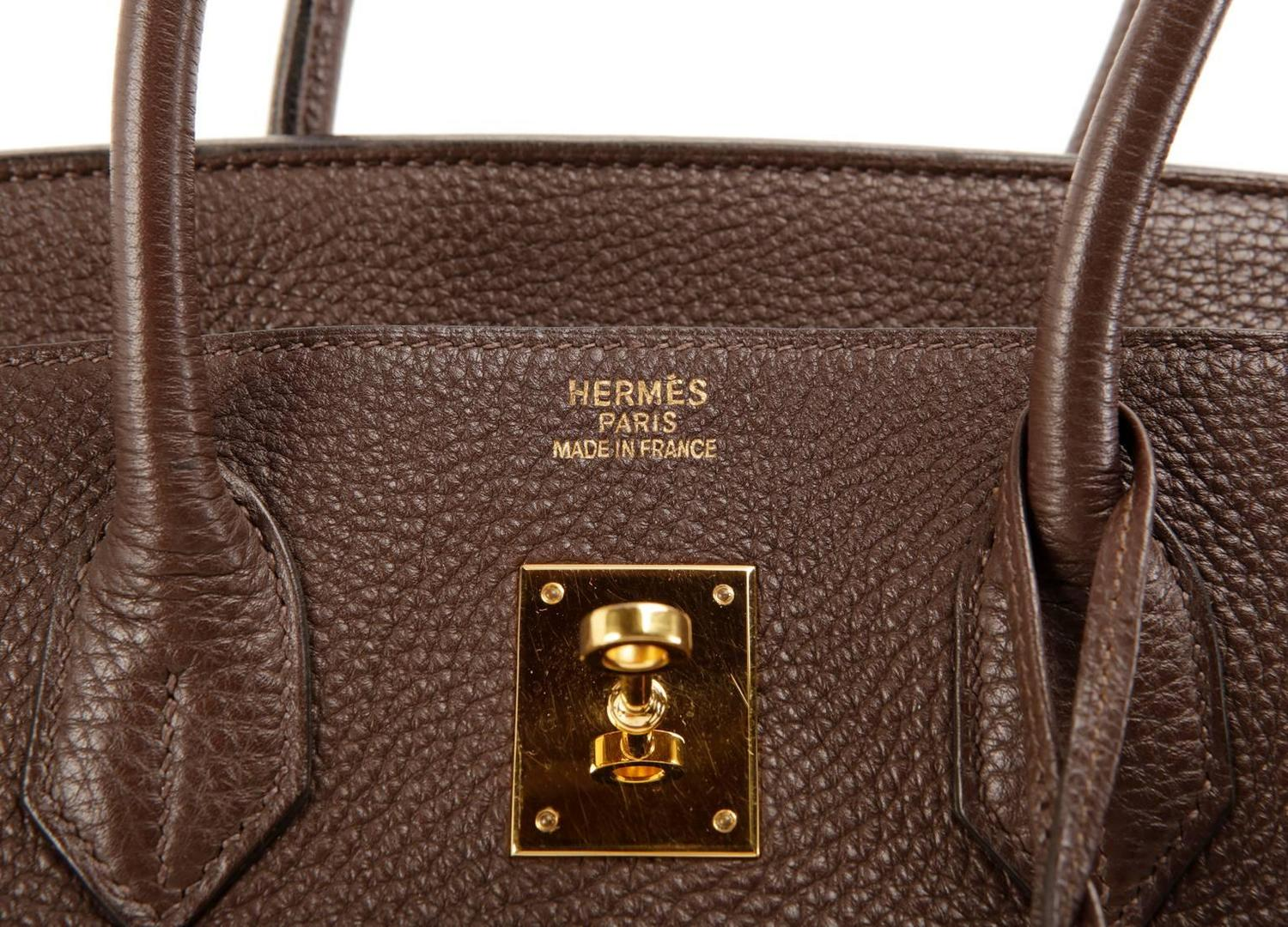 bags hermes - Herm��s Brown Togo Leather 35 cm Birkin Bag with GHW at 1stdibs