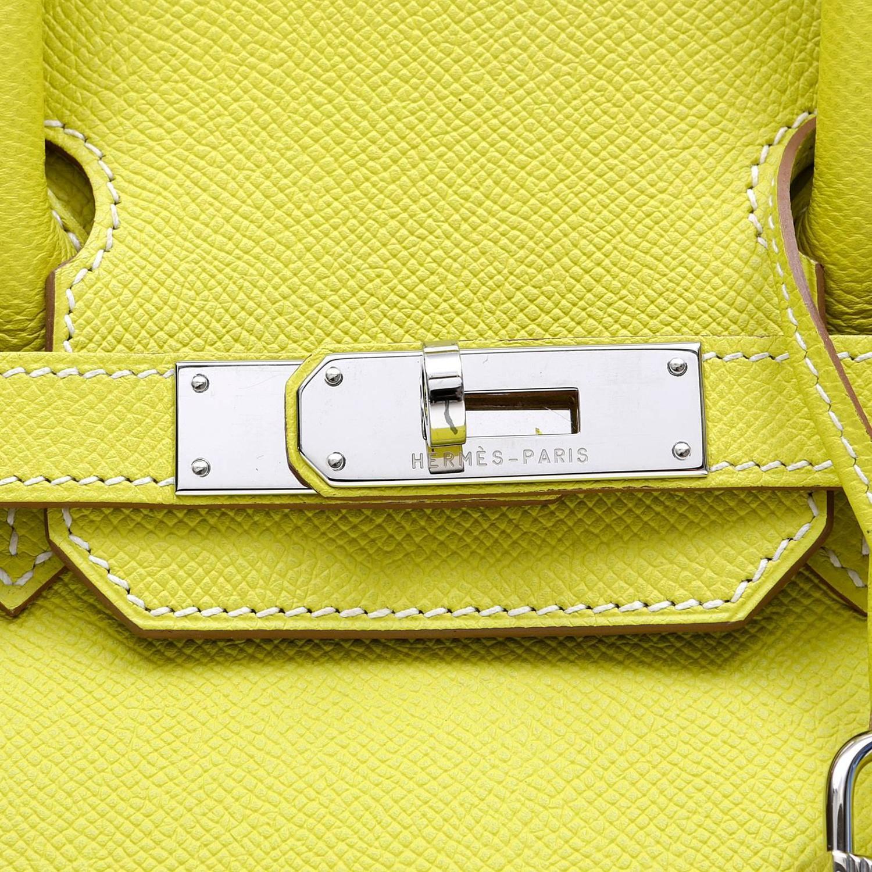 Herm��s Soufre Yellow Epsom 30 cm Birkin Bag- Grey Interior, PHW ...
