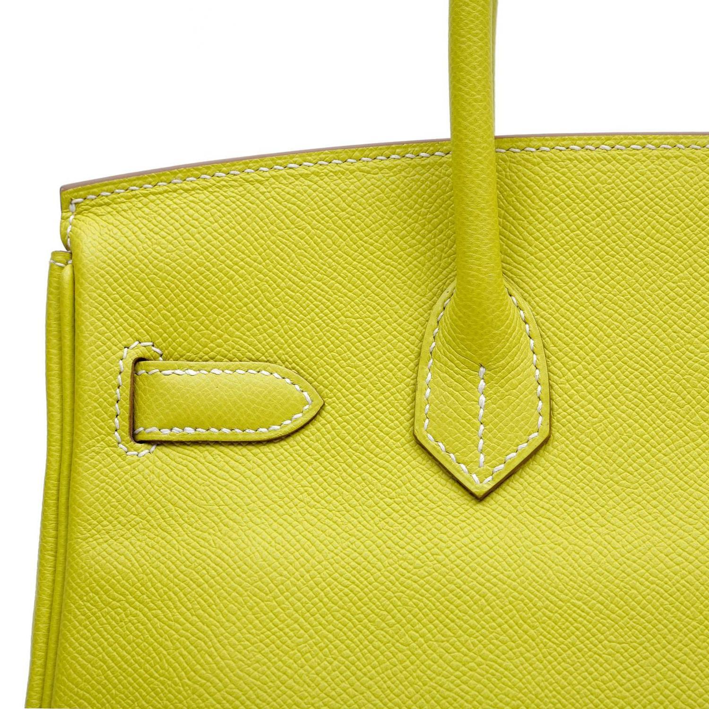 birkin vs kelly bag - Herm��s Soufre Yellow Epsom 30 cm Birkin Bag- Grey Interior, PHW ...