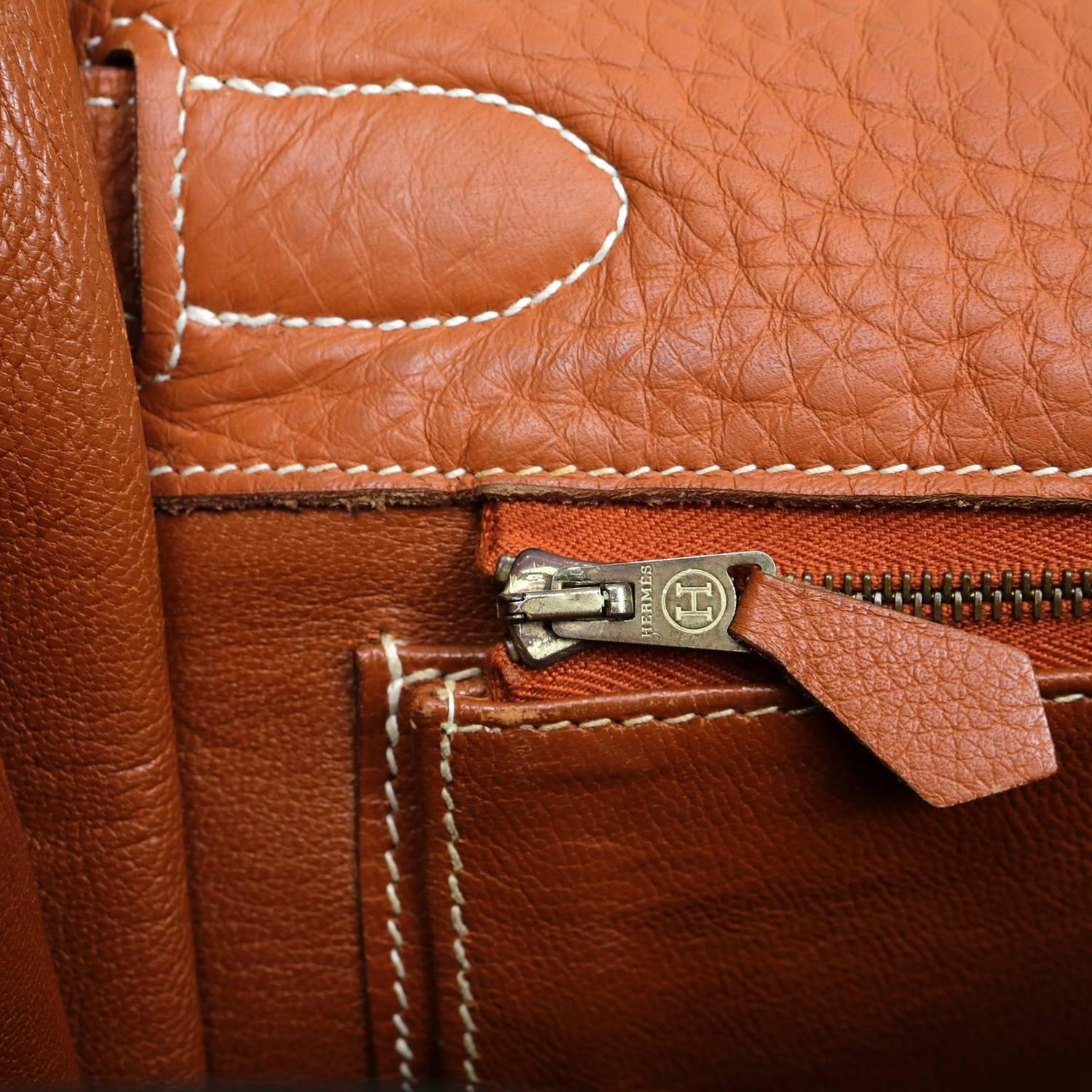 hermes terracotta togo leather 40 cm kelly bag ghw