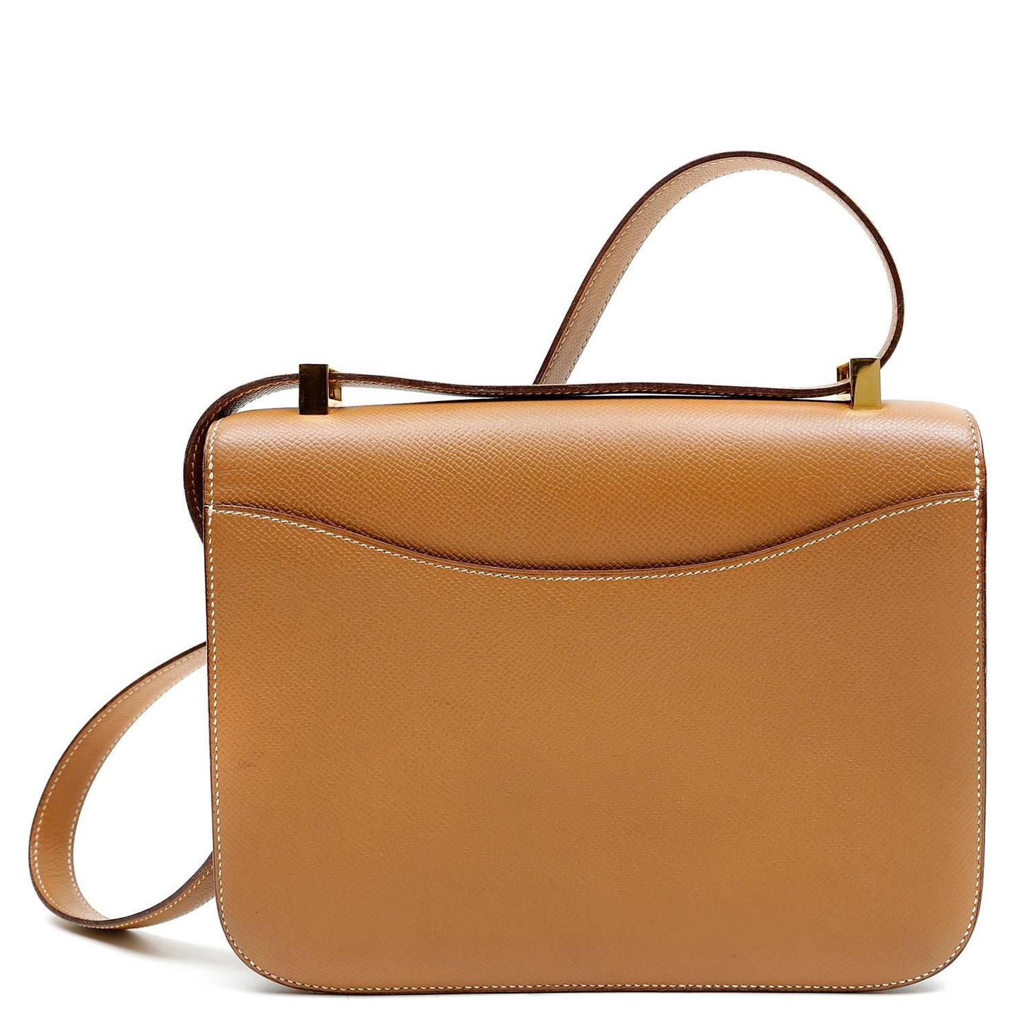 Herm��s Gold Epsom Leather Constance- 23 cm with GHW at 1stdibs