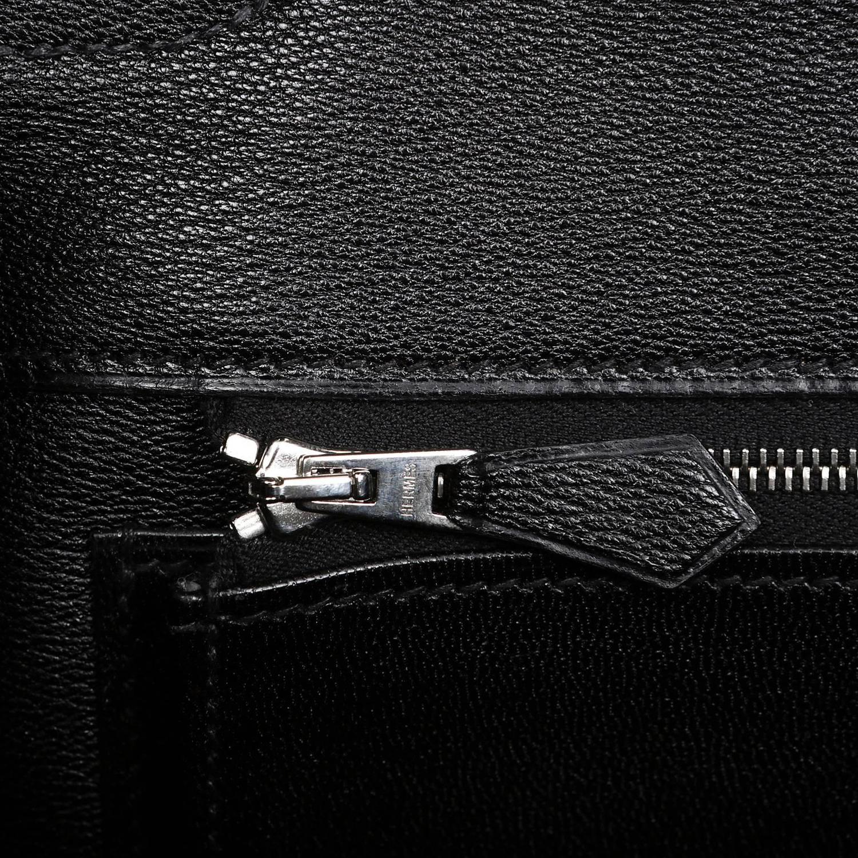 kelly purse - Herm��s Black Porosus Crocodile 35 cm Birkin Bag, PHW For Sale at ...