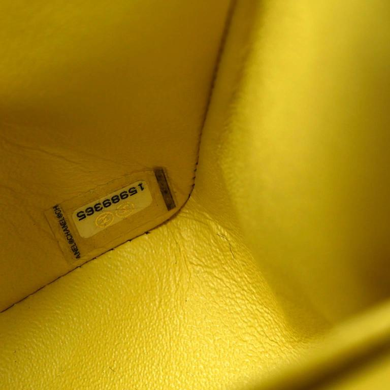 Chanel Yellow Leather Jumbo Classic Double Flap Bag For Sale 5
