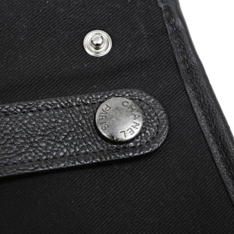 Chanel Black Tweed Runway Rolled Backpack- TWO BAGS 5