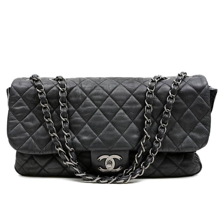 Chanel Black Tweed Runway Rolled Backpack- TWO BAGS 6