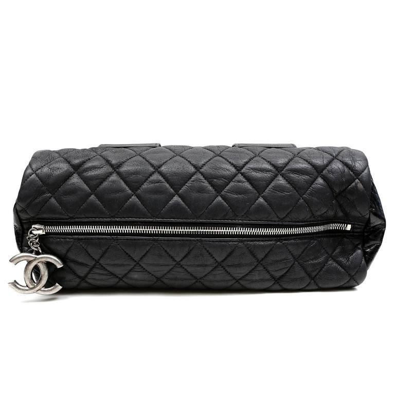 Chanel Black Tweed Runway Rolled Backpack- TWO BAGS 7