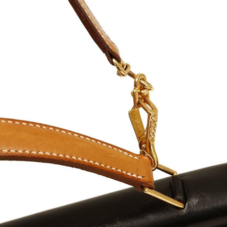Hermès Black Leather and Lizard Brief Case 6