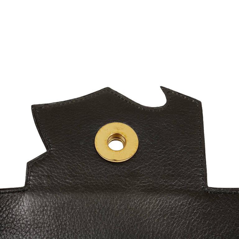 Hermès Black Leather and Lizard Brief Case 8