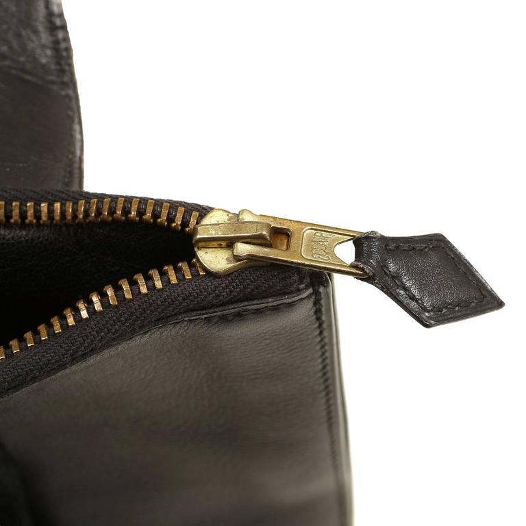 Hermès Black Leather and Lizard Brief Case 9