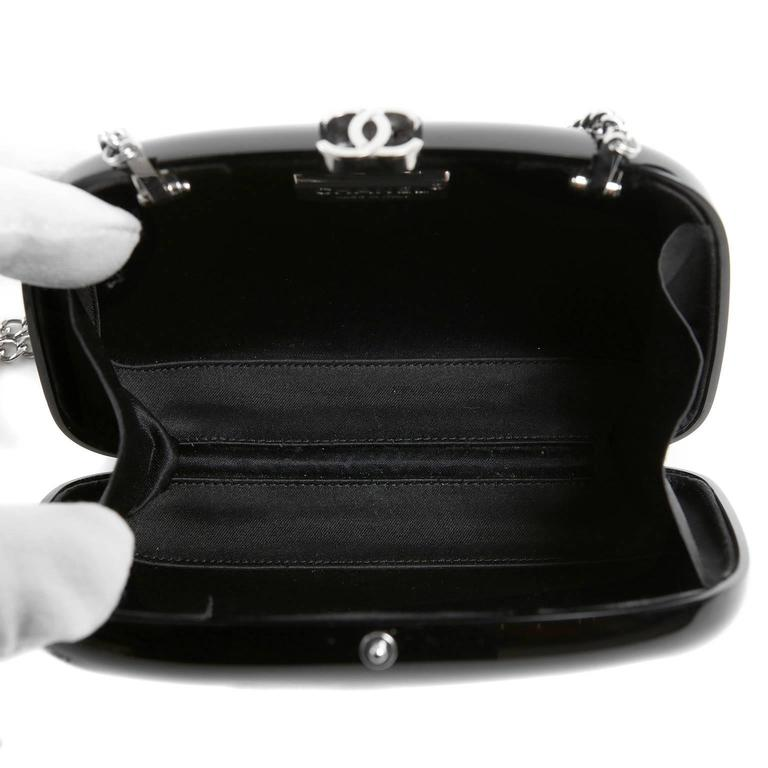 Chanel Black Resin Camellia Clutch 7