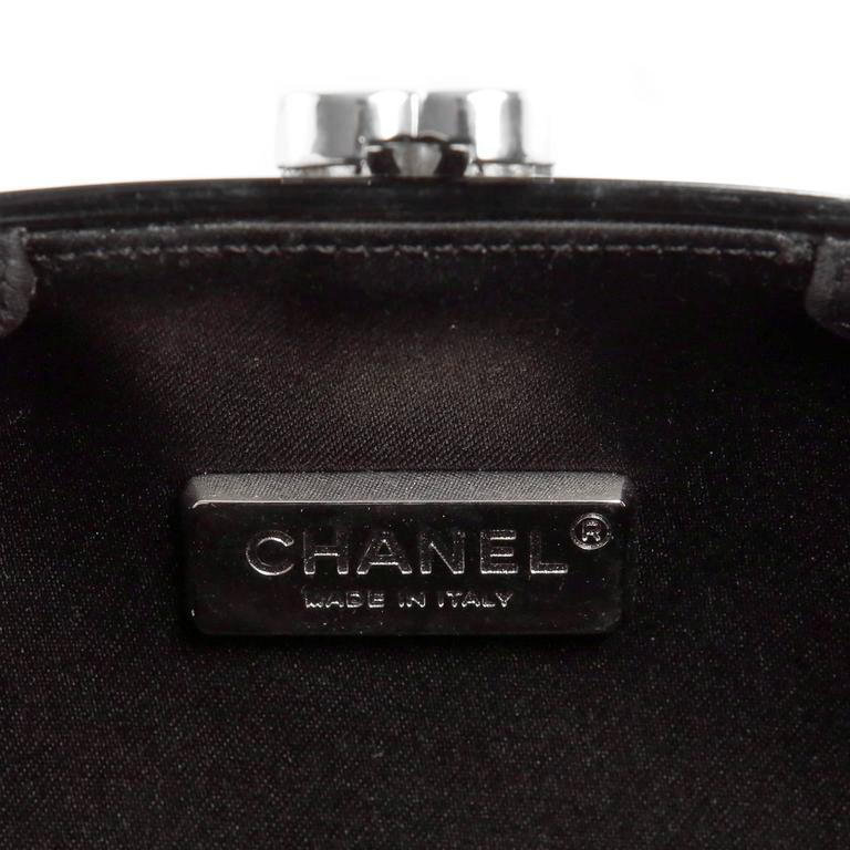 Chanel Black Resin Camellia Clutch 8